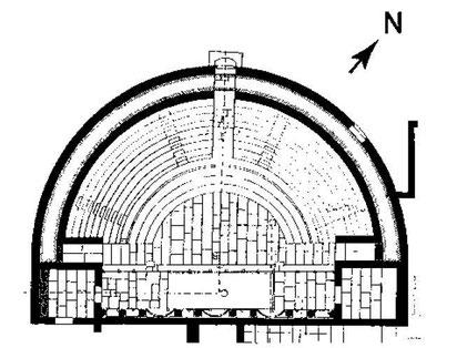 Madaure (Madauros) : Plan du théâtre
