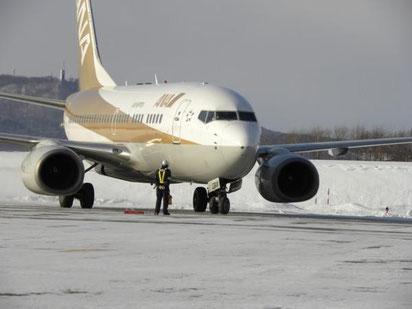 冬のオホーツク紋別空港