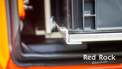 Innenausbau für den Jeep Wrangler JKU: Perfekt verarbeitet und funktionell durchdacht.