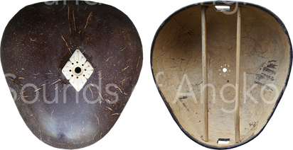 2. Exterior and interior of the triangle-shaped sound box in coconut.