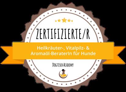 Zertifizierter Berater für Heilkräuter, Vitalpilze und Aromaöle Hunde