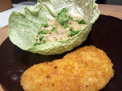 Boerenkoolrisotto met vegan schnitzel