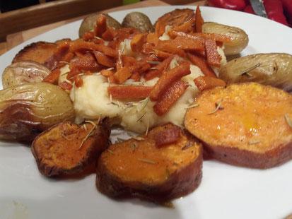Pastinaakpuree met vergeten groenten uit de oven