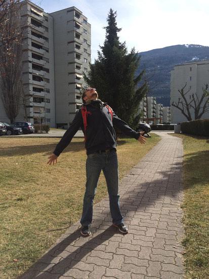 Yannick respire à Sion (si vous vous posez la question: oui, il en rit encore...)