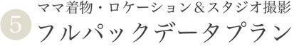 【⑤ママ着物付き・スタジオ・ロケ撮影フルパック写真データプラン】