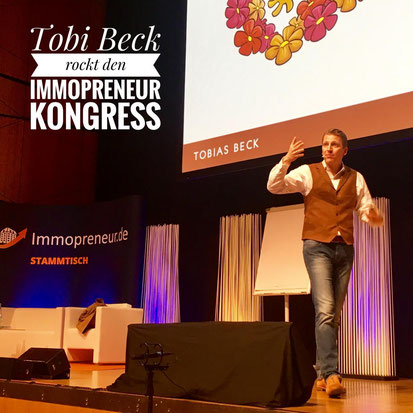freaky finance, Immopreneur Kongress 2017, Hauptbühne, Darmstadtium, Tobias Beck auf der Bühne