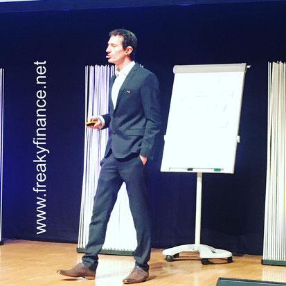 freaky finance, Immopreneur Kongress 2017, Hauptbühne, Darmstadtium, Thorsten Wittmann auf der Bühne