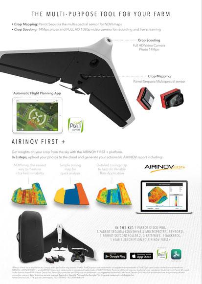Realice mapas NDVI con Parrot Disco Pro AG de forma fácil y rápida