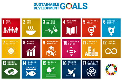 SDGsが目指す17目標(外務省HP)