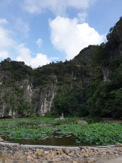 Gegend von Bich Dong Pagoda