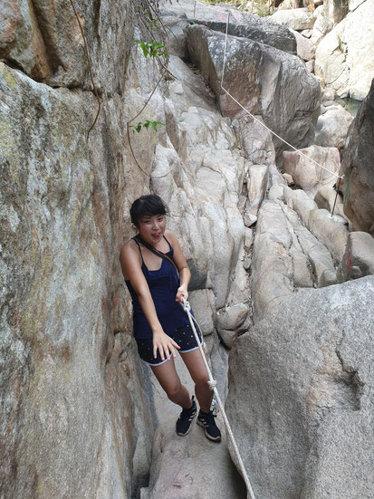 Weg am Bo Ho Wasserfall