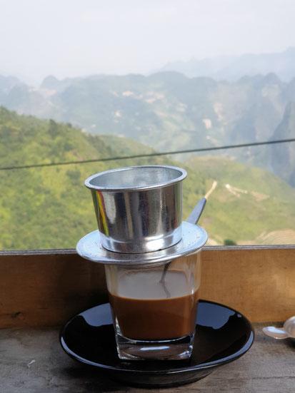 Kaffeepause am Ha Giang Loop