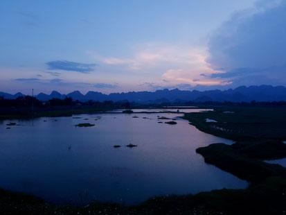 Gewitterwolke über Tam Coc