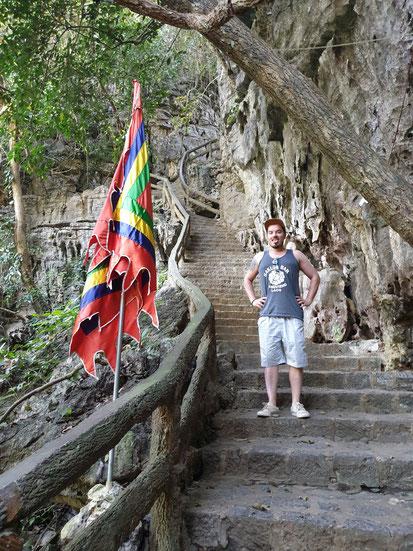 Weg zum Tempel beim Tang An See