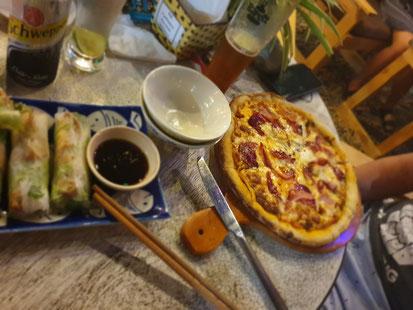 Abendessen im Restaurant von Tam Coc