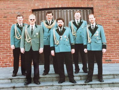 v.l.n.r.: Stefan David, Albrecht Faust, Hans-Willi Türks, Matthias Bommes, Johannes Kronen, Karl-Heinz Thomas