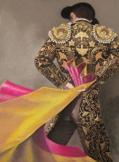 corrida-art-torero-pastel-tauromachie-dessin-cape-toreo