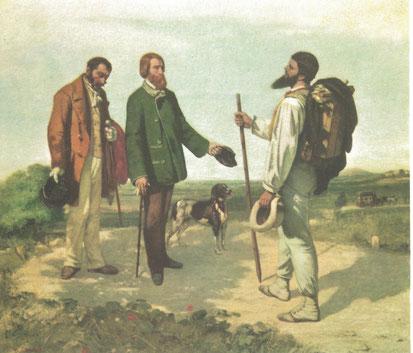 """Gustave Courbet: """"Bonjour, Monsieur Courbet"""" (Photo: Christian Meyer)"""
