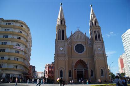 Ein paar Impressionen von Curitiba bei unserem Bummel durch die Innenstadt (zugegebenermaßen die schönsten, die die Stadt zu bieten hat)