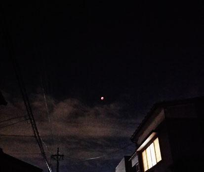 皆既月食、初めてみた~! 何か赤くてスゴカッタw