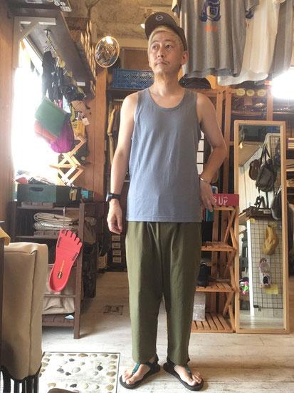 ※172㎝64㎏体型でサイズ「M」着用(Blue Gray)