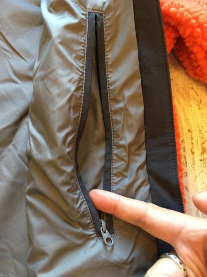 左側インナーセキュリティージップポケット