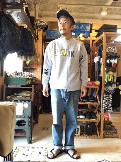 ※172㎝62㎏体型でサイズ「S」着用(Gray)