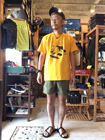 ※172㎝61㎏体型でサイズ「M」着用しています(Yellow)
