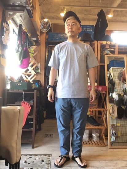 ※172㎝65㎏体型でサイズ「M」着用(Slate Blue)