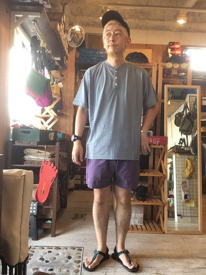 ※172㎝64㎏体型でサイズ「L」着用(Blue Gray)