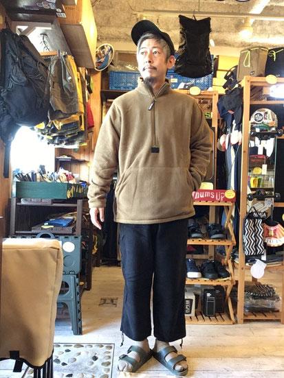 ※172㎝63㎏体型でサイズ「M」着用