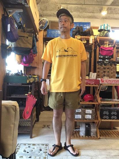 ※172㎝64㎏体型でサイズ「M」着用(Yellow)