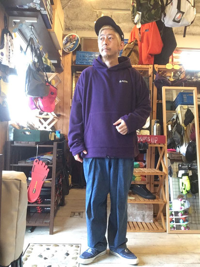 ※172㎝65㎏体型でサイズ「M」着用(Purple)