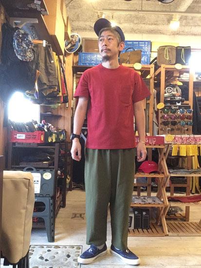 ※172㎝63㎏体型でサイズ「M」着用(Red)