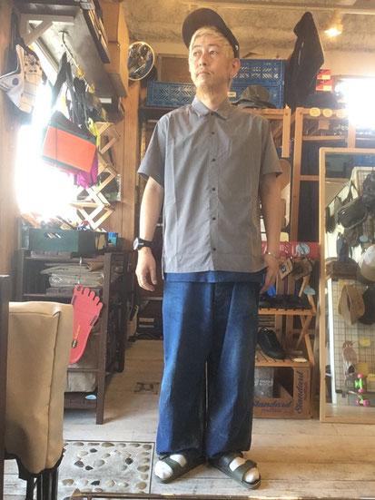 ※172㎝65㎏体型でサイズ「M」着用(Gray)