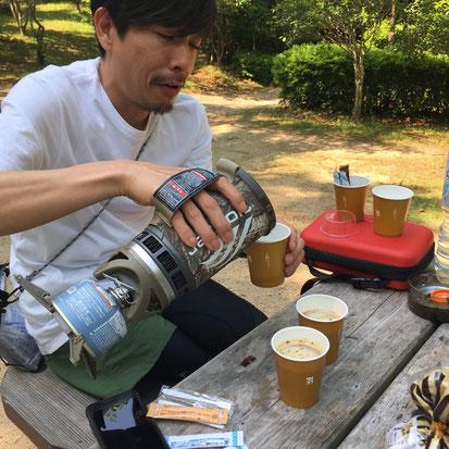 コーヒー係!?(笑)