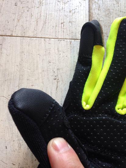 親指と人差し指(タッチパネル対応)