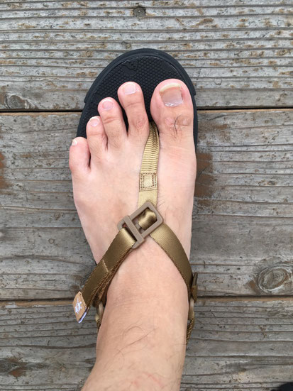 足の実寸サイズ(26.0㎝)でUS 8(26㎝)を履いた場合のサイズ感