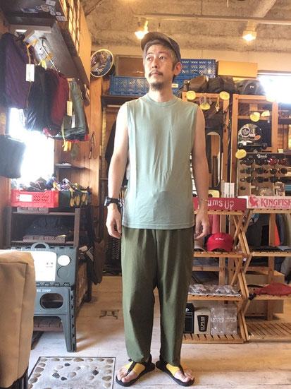 ※172㎝64㎏体型でサイズ「L」着用(Granite Green)