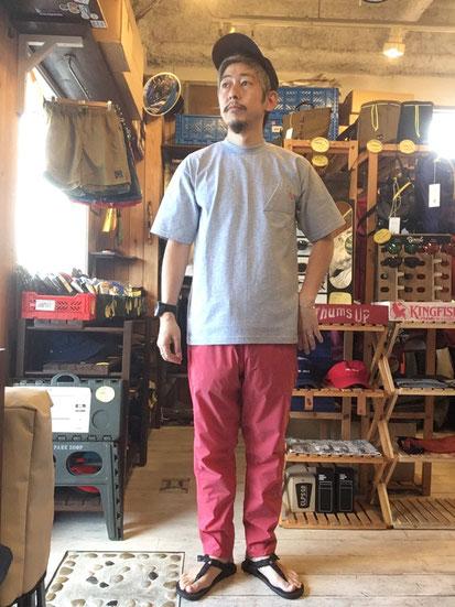 ※172㎝64㎏体型でサイズ「M」着用(Hibiscus ※2020SSカラー)
