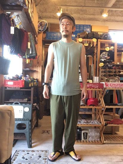 ※172㎝64㎏体型でサイズ「M」着用(Granite Green)