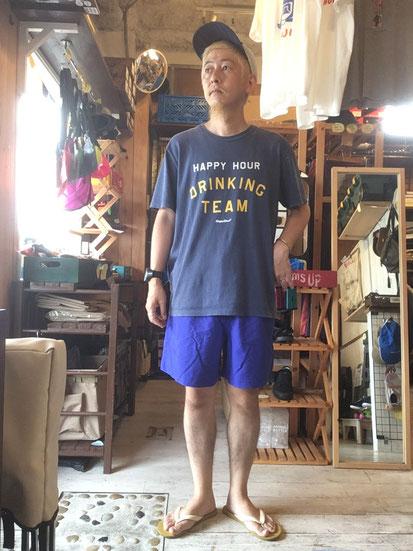 ※172㎝64㎏体型でサイズ「M」着用(ROYAL BLUE)