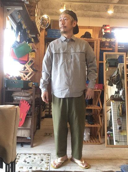 ※172㎝64㎏体型でサイズ「M」着用(Grey Check)