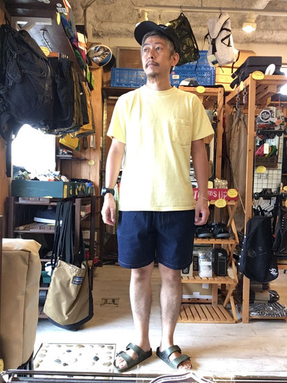 ※172㎝62㎏体型でサイズ「M」着用(Denim Navy)