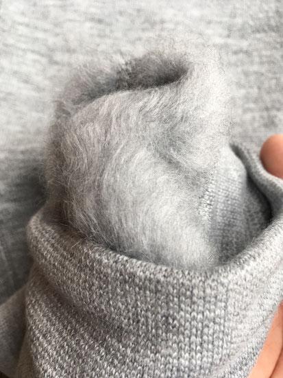 裏地起毛部分