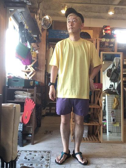 ※172㎝64㎏体型でサイズ「L」着用(Pale Yellow)