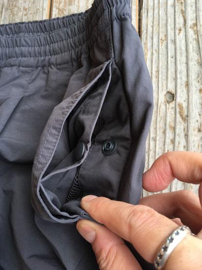 スナップボタンポケット(左サイドのみ)