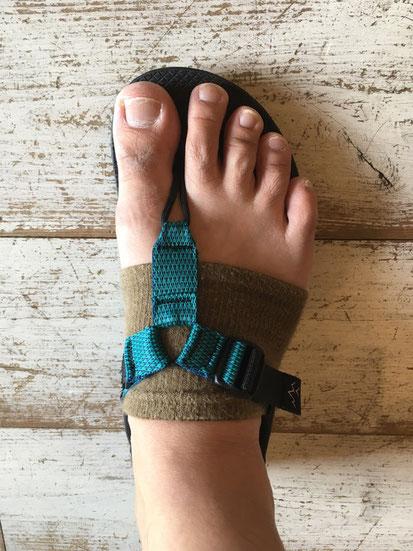足の実寸サイズ(26.0㎝)でMen 8(26㎝)を履いた場合のサイズ感