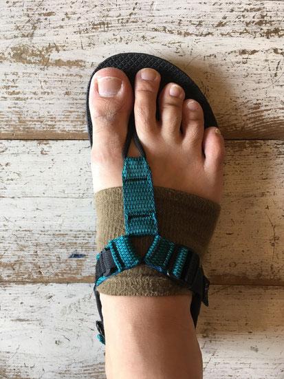 足の実寸サイズ(26.0㎝)でMen 9(27㎝)を履いた場合のサイズ感