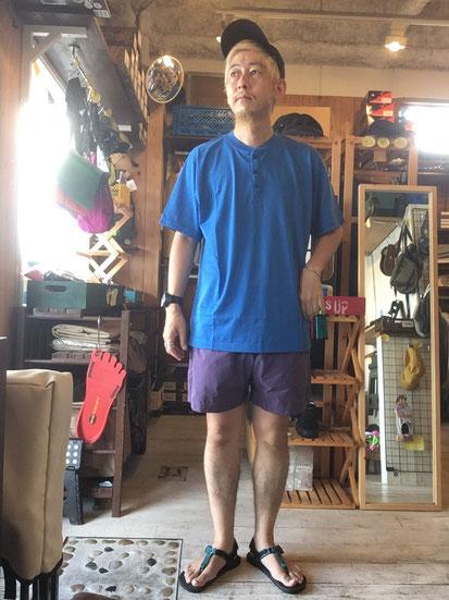 ※172㎝64㎏体型でサイズ「L」着用(Blue)